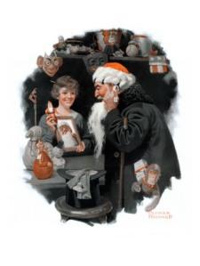norman-rockwell-playing-santa-december-9-1916