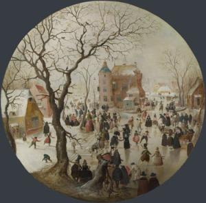Winter Scene with Skaters and Castle, Hendrick Avercamp