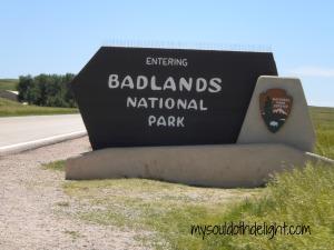 Badlands Entrance Sign