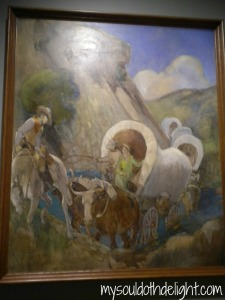 Temple Square - Minerva Tiechert painting