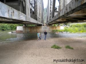 Weber Canyon Double Trestle Bridge