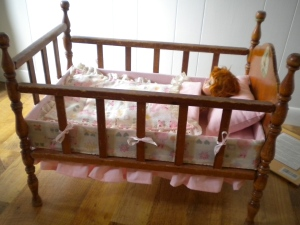 the finished bed